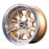7 x 13 Minilight Wheel - Gold/Polished Rim