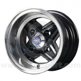 6 x 10 Revolite Wheel - Black/Polished Rim