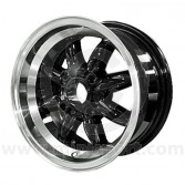 6 x 12 Rose Petal Wheel - Matt Black/Silver Rim
