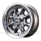 5.5 x 12 Superlight Wheel - Gunmetal/Polished Rim