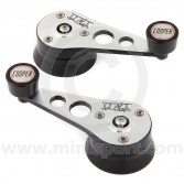 Cooper Alloy Billet Window Winders - Black