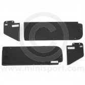 Alloy Door Switch Plates - Black Crackle Finish - 4 Piece Set