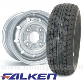 "4.5"" x 10"" silver alloy Cooper S replica wheel and Falken FK07E tyre package"