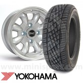 "5.5"" x 12"" silver Ultralite alloy wheel and Yokohama A539 tyre package"