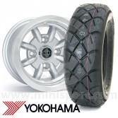 "5"" x 10"" silver Minator alloy wheels and Yokohama A032 tyres package"