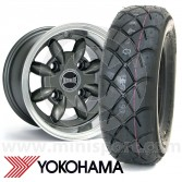 "6"" x 10"" anthracite Ultralite alloy wheel and Yokohama A032 tyre package"