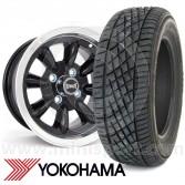 "WTP7X13KIT15 7"" x 13"" black Ultralite alloy wheel and Yokohama A539 tyre package"