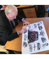 Paddy Hopkirk signing the Limited Edition ArtbyBex print