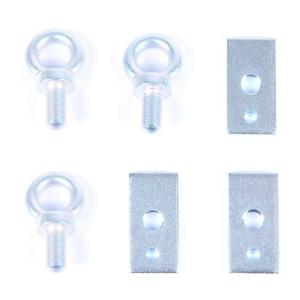 Harness Eye Bolts with Plates - Set of 3