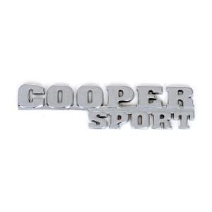 Chrome Cooper Sport Rear Boot Badge
