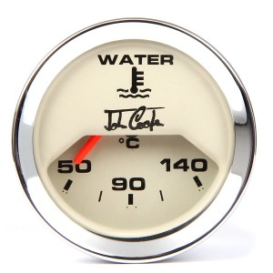 John Cooper Water Temperature Gauge - Magnolia Face and Chrome Ring