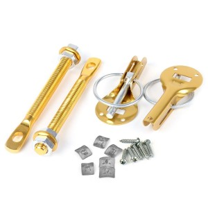 Competition Bonnet Pin Kit - Aluminium Annodised Gold