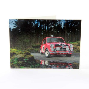 Greetings Card with Paddy Hopkirk Mini Image
