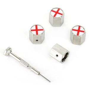 Richbrook Valve Caps - St Georges Cross Logo - Anti Theft