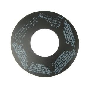 MPi Coolant Tank - Warning Label