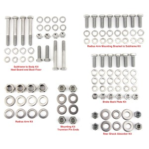 Rear Subframe Mega Fitting Kit - Stainless Steel