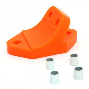 Mini front subframe rear mounting - red poly