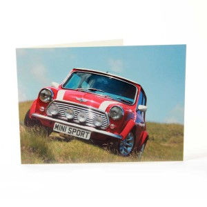 Greetings Card with Red Sportspack Mini Image