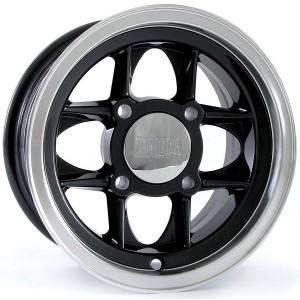 5 x 10 Mamba Wheel - Black/Polished Rim