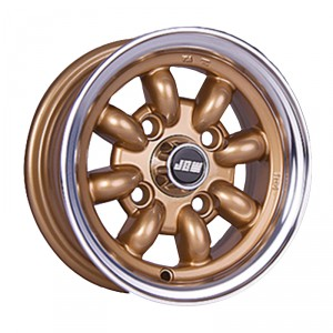 5 x 10 Minilight Wheel - Gold/Polished Rim