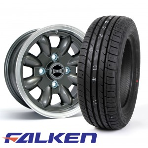 "5.5 x 12"" Ultralite Anthracite - Falken ZE914 Package"