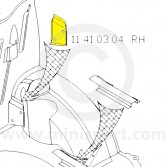 MCR11.41.03.04 RH Rear Wheel Arch to Bulkhead Stiffener Pane - All Mini Models.