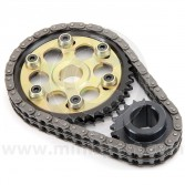 Mini Sport Lightened Vernier Duplex Timing Gear & Chain Set