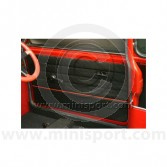 Door Panels - Pair - Lightning - Black Red - Mini 90-95