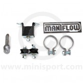 """FKT04B Heavy duty fitting kit for Maniflow 1 7/8"""" bore single or twin box, centre exit exhaust systems."""