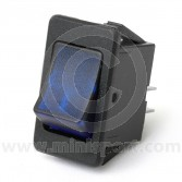 Rocker Switches - On/Off - Blue illuminated