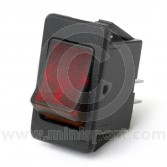 Rocker Switches - On/Off - Red illuminated
