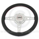 Classic Mini Cooper Silverstone Leather Steering Wheel