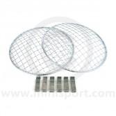 Mini Headlight Stoneguards in stainless steel