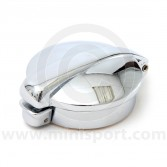 MONMPF2 Mini Monza style chrome petrol cap complete with filler neck adaptor