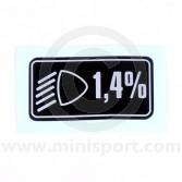 Headlight Aim sticker for Classic Mini