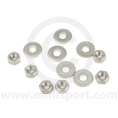 SMBFK007 Classic Mini bumper fitting kit with stainless steel UNF nuts and washers to mount both bumpers