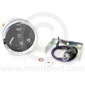 Smiths Oil Pressure Gauge - Electric - Black Face with Chrome Ring