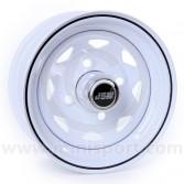 4.5 x 10 W8 Steel Wheel - White