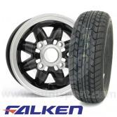 """4.75"""" x 10"""" Rose Petal Alloys - Falken FK07 Package"""