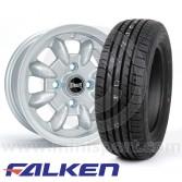 """5.5"""" x 12"""" silver Ultralite alloy wheel and Falken ZE914 tyre package"""