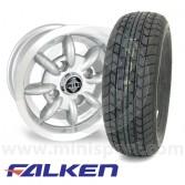 """5"""" x 10"""" silver Minator alloy wheel and Falken FK07E tyre package"""