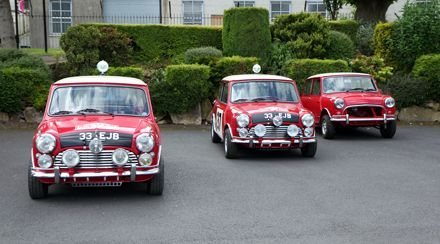 The 3 Classic Minis Mini Sport supplied for the Faith of a Few filming