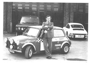 brian and rally car