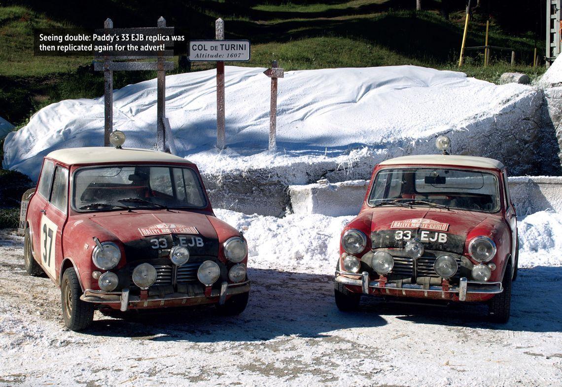 Two 33EJB replicas on the Col de Turini